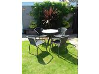 Garden Bistro Table & 4 Chairs