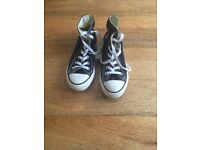 Converse Size 3 Black Worn Once!