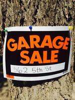 MAY 9th and 10th Garage sale 562 5 th st sw