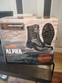 ALPHA BOOT YOUTH COLOUR BLACK ARMY CADET BOOTS SIZE UK ; 5 EURO 38 SEE ALL PICTURES