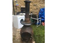 5ft tall pot belly cast iron chiminea