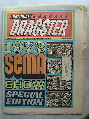 2 4 1972 Nhra National Dragster Drag Racing Ocir Moody Snow Leal Platt Ray Alley