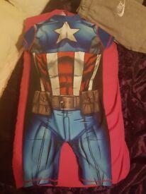 Captain america swimsuit brand new