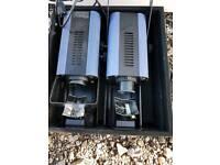 TWO CHAUVET DJCH-615X Micro Scan II DMX Light