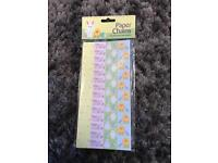 Easter paper chains bright or pastel coloured
