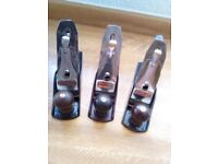 STANLEY No 4 SMOOTHING PLANES x 3