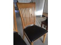 Dining table chairs x 6