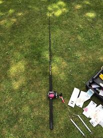 Sea fishing tackle set up