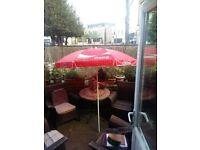 Coca-Cola garden umbrella
