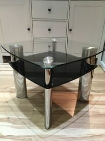 Glass Coffee Table, Side Table and TV unit