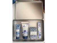 New Laura Ashley Royal Bloom cuticle balm, soap, file and nail/hand cream in lovely matching tin