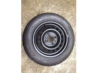 Spare Wheel. Tyre + Rim. 155/70R13. From a Nissan Micra. Unused