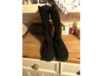 As new worn once UGG boots UK size 7.5 design Abree in black!