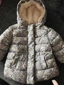 Next Girls winter coat 3-6 months