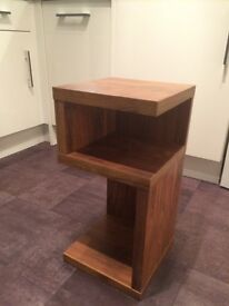 Lamp table in walnut from Next