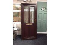 UPVC Rosewood Door - Ex-Display