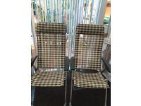 Light weight alloy chairs and 1 x leg rest