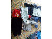 Baby boy clothes 1 box 9-12mths