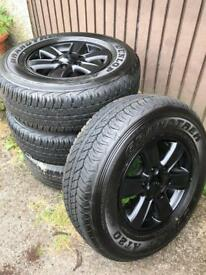 Wheels and Dunlop AT20 tyres 3x brand new 1 part worn.