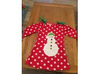 Fleecy Christmas dress girls 4-5 yrs