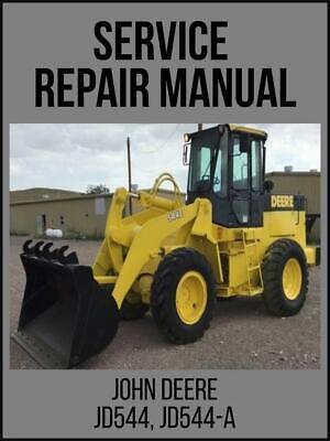 John Deere Jd544 Jd544-a Loader Service Technical Manual Tm1002 Usb Drive
