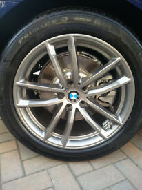 "Genuine BMW 5 Series G30 G31 18"" 662 M Sport 5 Double Spoke Alloy Wheels & Tyres"