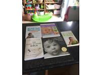 Bundle of baby newborn/toddler books. Baby signing, baby led weaning, gentle parenting