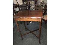 Fine Little Vintage Mahogany Scalloped Edge Small Side/Lamp/Hall Table