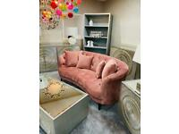 Brand new pink sofa button back