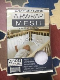 Cot Bumper/Airwrap 4 Sided Cot Protector