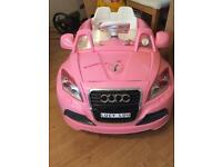 Children's electric pink car