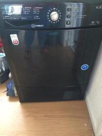 Black indesit 8kg condensor dryer
