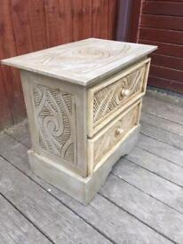 Hand painted decorative shabby chic side cabinet, bargain