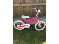 """AVIGO BEDAZZLED GIRLS 14"""" BIKE GOOD CONDITION, new stabilisers available for £5 if needed £20"""
