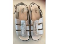 Hotter silver leather sandals. Size 5 1/2