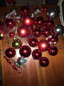 5ft Artificial Tree in Box with Baubles