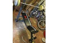 York Fitness Free Weights & Bench