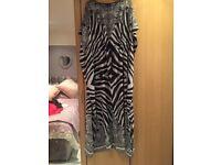 Julien macdonald zebra print summer beach maxi kaftan brand new size medium