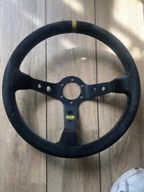 Omp deep dish steering wheel
