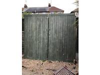 Pair of wooden garage / shed doors