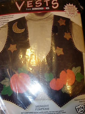 APPLIQUE VEST KIT MIDNIGHT PUMPKINS FALL HALLOWEEN PROJECTS PATTERN FASHION FUN (Fun Halloween Projects)