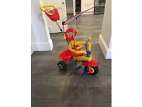 4 in 1 red/blue/yellow Smart Trike