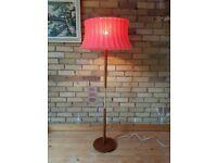VINTAGE MID CENTURY TEAK BRASS + RETRO FUNKY SHADE STANDARD LAMP MCM MODERN HOME LOUNGE GC