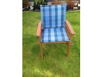 6 Garden/patio wood chairs for sale