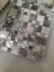 Mirrored and metal mosiac sheets x6