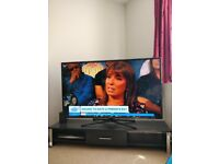 55inch LED 3D TV and wooden black stand