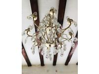 Stunning authentic Chandelier - heavy crystal 💎 , fantastic sparkle and quality