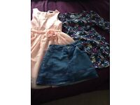 Girls dress and skirt bundle 5-6 years Joules and H&M