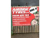 New and partwrorn tyres