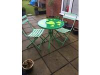 Vintage Retro Kitchen/ Garden Table & Chairs Wedding Accessorie